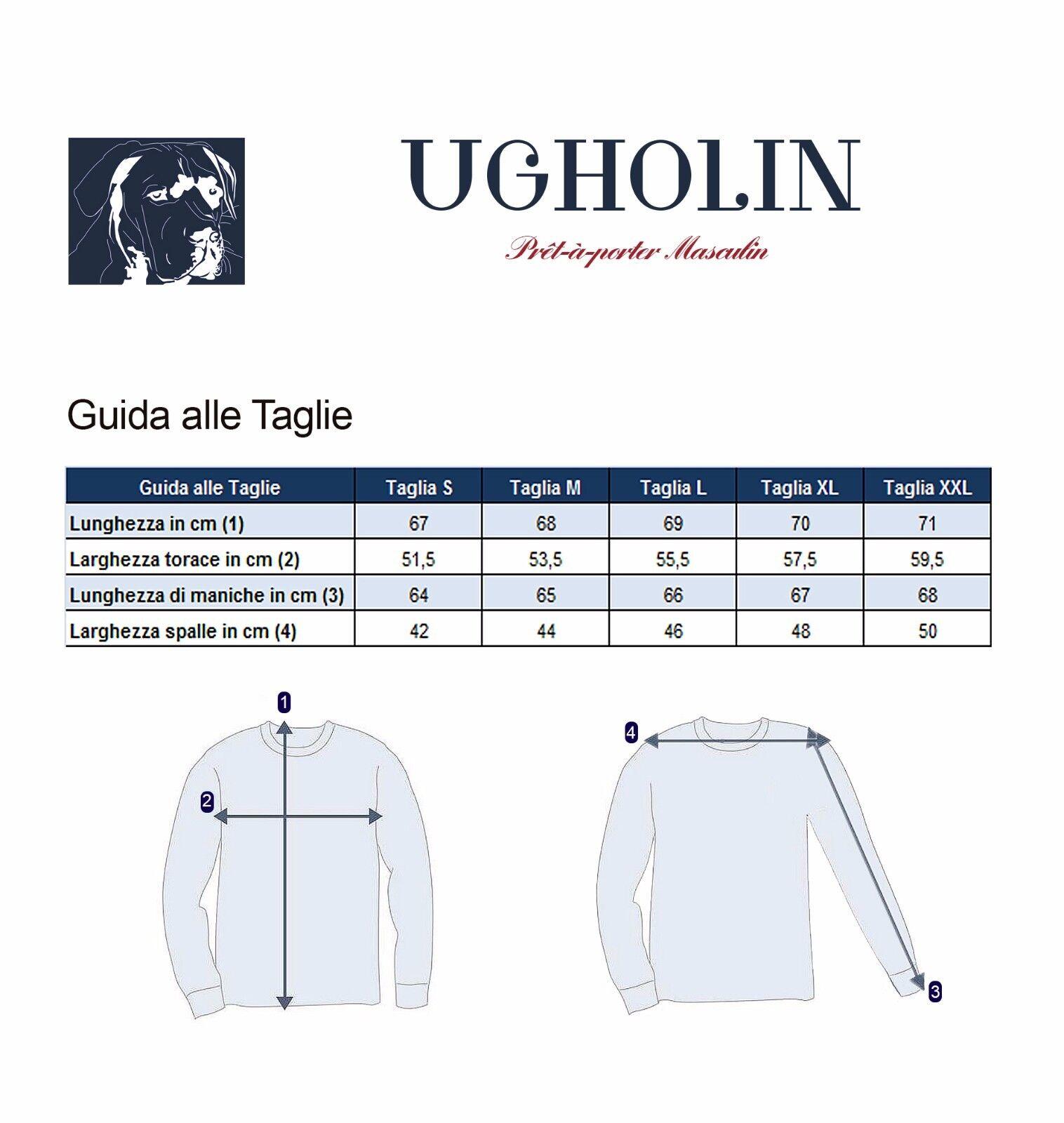 Ugholin Maglione Uomo 100% Yak Yak Yak Scollo con Cerniera Maniche Lunghe Nero 380cfd