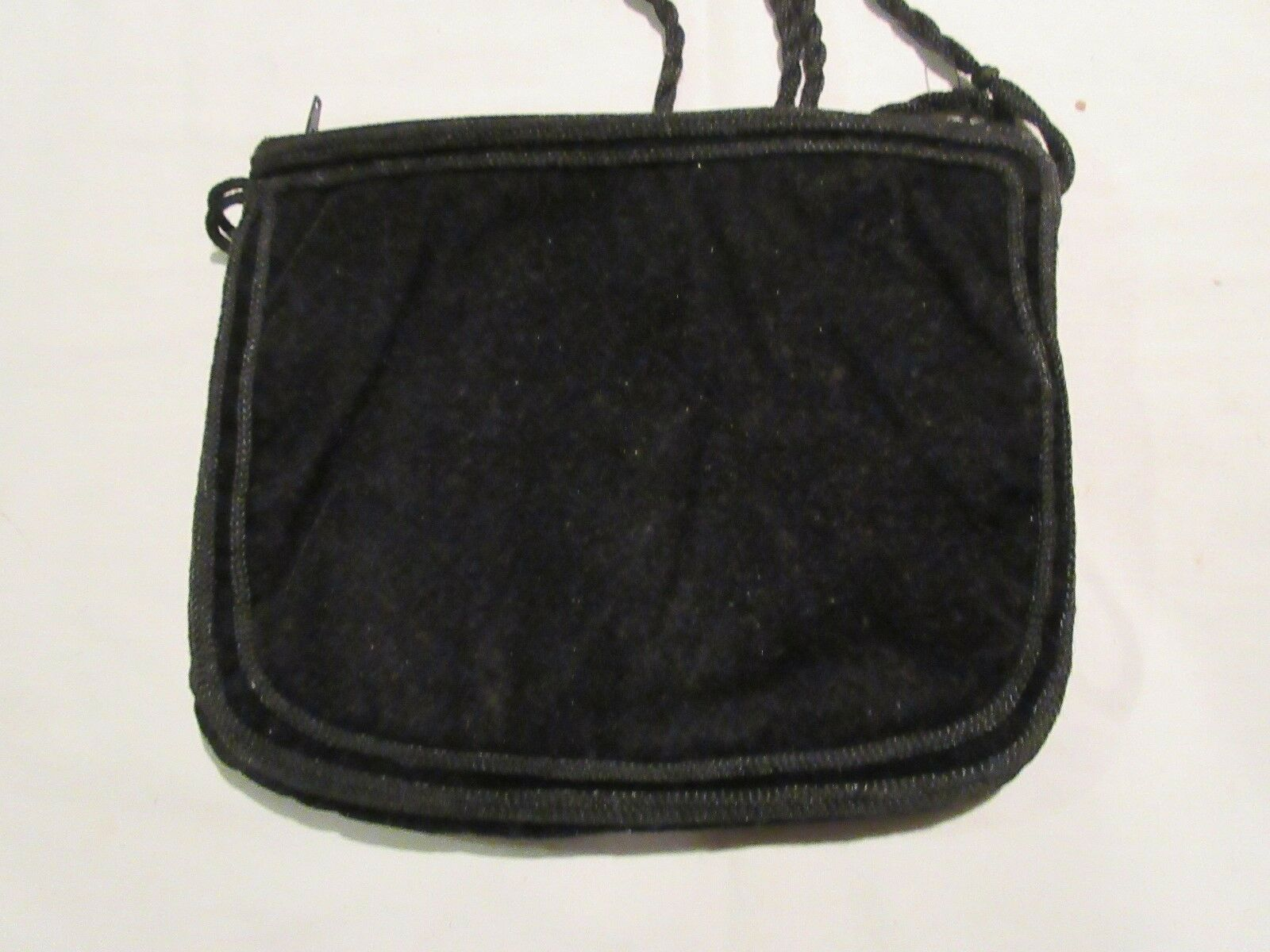 "Ladies Handbag , Vintage , Black Purse , 8""X7"""