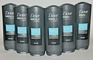 Lot 6 Dove Men Care Clean Comfort Body Wash Face Wash 18 Fl Oz Mild Formula Ebay