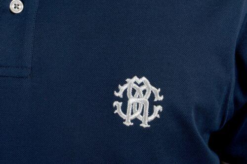 Roberto Cavalli Men/'s Navy Blue Short Sleeve Polo Shirt Size S M L XL 2XL