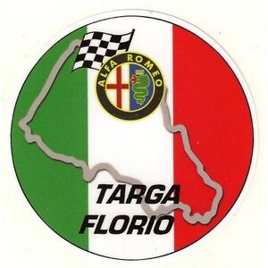 """ALFA ROMEO """" Targa Florio """" Sticker LOU5qpJc-09164831-229046610"""