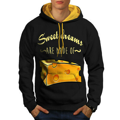 wellcoda Sweet Dreams Cheese Mens Sweatshirt Funny Casual Jumper