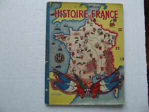 Details Sur Livre Ancien Montgon Histoire De France 1937 Illustrations Marcel Jeanjean