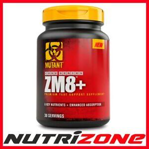 MUTANT ZM8+ Strong Testosterone Booster ZMA Zinc Magnesium Vit B6 Veggie Caps