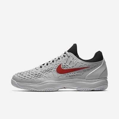 Nike Zoom Cage 3 HC Pure PlatinumSchwarzWeißHabanero