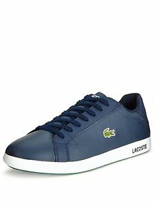 b4d3aff97b266 Image is loading LACOSTE-GRADUATE-LCR3-NAVY-MENS-TRAINERS-NEW-BOXED-