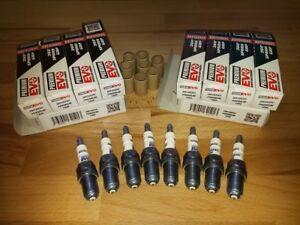 8x-Bmw-745-E65-E67-4-4i-y2001-2008-Brisk-Silver-Evo-Laser-Upgrade-Spark-Plugs