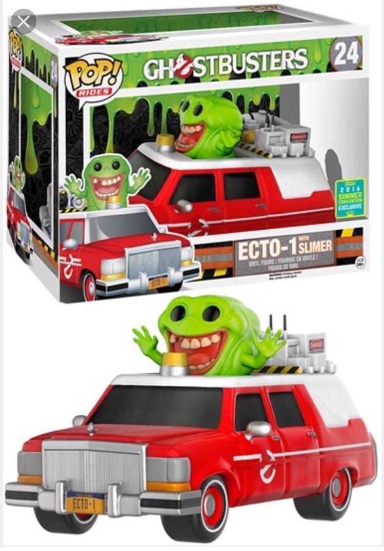 Sce Exclusif red ECTO-1 avec Slimer Slimer Slimer Pop Vinyle Figurine Rides 24 Tout Nouveau 2e71cf