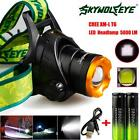 10000LM CREE XM-L T6 Headlamp Headlight Head Light LED+Cable+2 18650 Battery lot