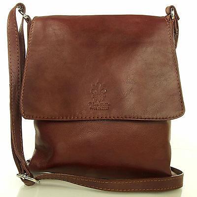 Echt Leder Damen Tasche Handtasche Umhängetasche Schultertasche braun MC102936