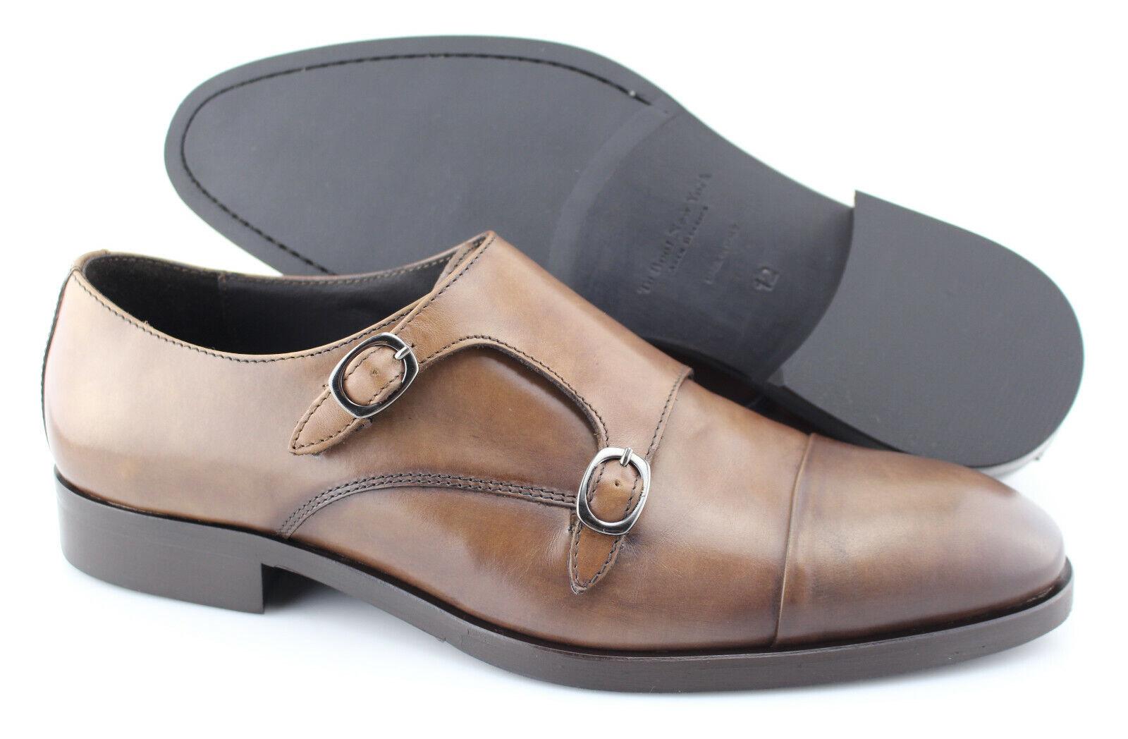 compra meglio Uomo TO avvio NEW YORK 'Koning' Marrone Marrone Marrone Leather Monk Strap Loafers Dimensione US 12 - D  80% di sconto