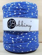 """Bobbiny """"Stoffgarn Blau mit Punkten"""" Neu, Baumwolle wie Hooked 860"""