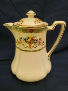 VINTAGE-JOHNSON-BROTHERS-PAREEK-BELVEDERE-PATTERN-HOT-WATER-JUG-RARE