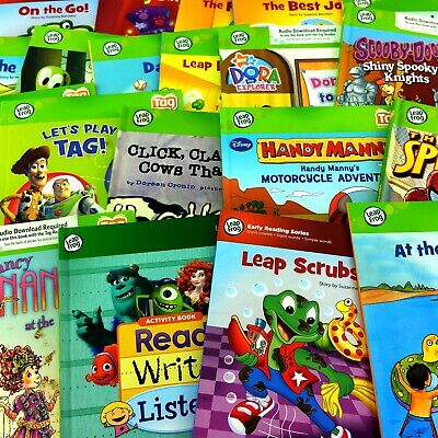 Lot 14 LeapFrog Tag Junior Board Books Set Interactive Learning To Read Disney