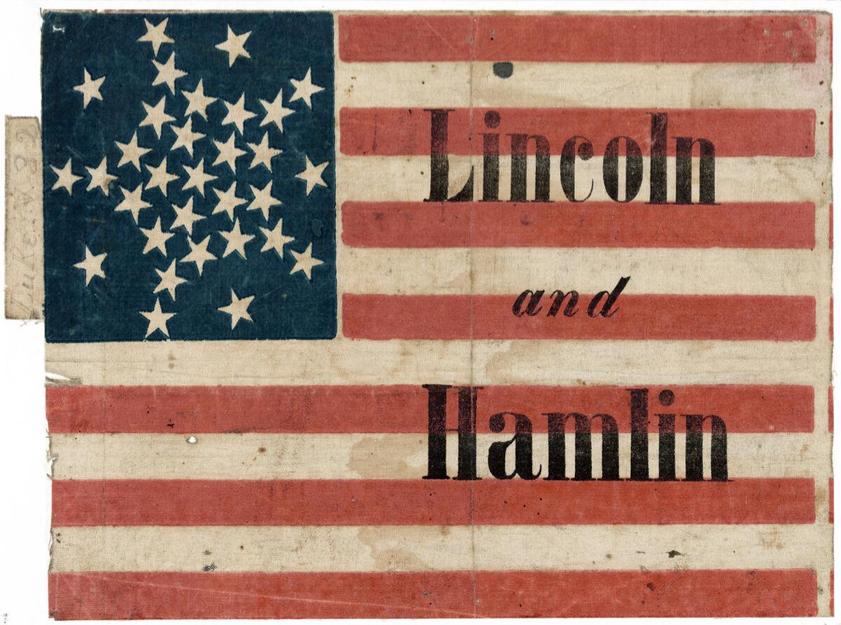 16x20 Decoration CANVAS.Interior room design art.Lincoln flag.U.S history.6641