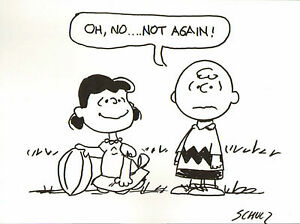 Charles-Schulz-039-Charlie-Brown-amp-Lucy-039-original-handsigned-marker-drawing-RARE