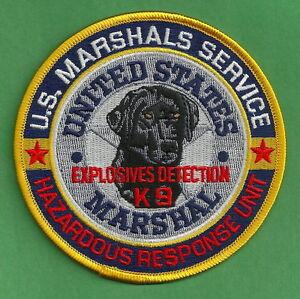 U.S MARSHAL SERVICE EXPLOSIVES K-9 UNIT SHOULDER PATCH