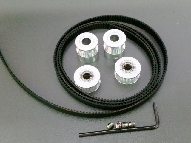 2 x 5mm Timing Pulleys Belt Bearing Idler Reprap Prusa 3D Printer Tool GT2 2GT