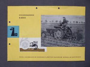 Prix Bas Avec Prospectus Schleuderradroder E 655/2, Veb Les Machines Agri Coles Döbeln Dans Sa, Rda 1961-der E 655/2, Veb Landmaschinenbau Döbeln In Sa., Ddr 1961 Fr-fr Afficher Le Titre D'origine