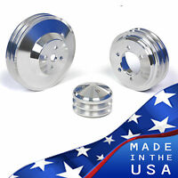 Buick Pulley Kit - Big Block 400 430 455 Crank V-belt Billet Aluminum 3 A/c