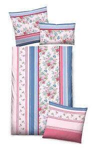 biberna baumwoll biber bettw sche 4tlg blumen rosa blau landhaus 135x200 40x80 ebay. Black Bedroom Furniture Sets. Home Design Ideas
