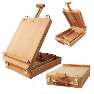 Art-Wooden-w-Storage-Desktop-Table-Easel-Height-Adjustable-Display-Painting