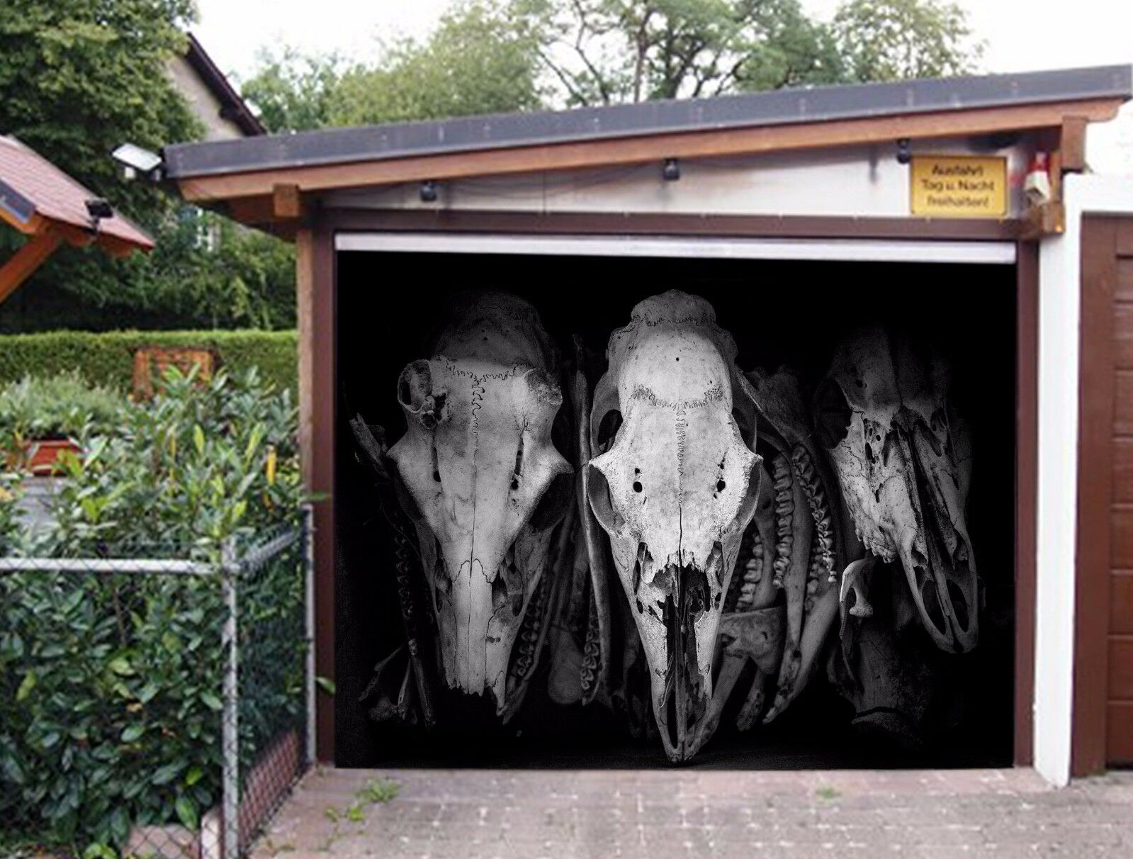 3D Animal Skull 5 Garage Door Murals Wall Print Decal Wall AJ WALLPAPER AU Lemon