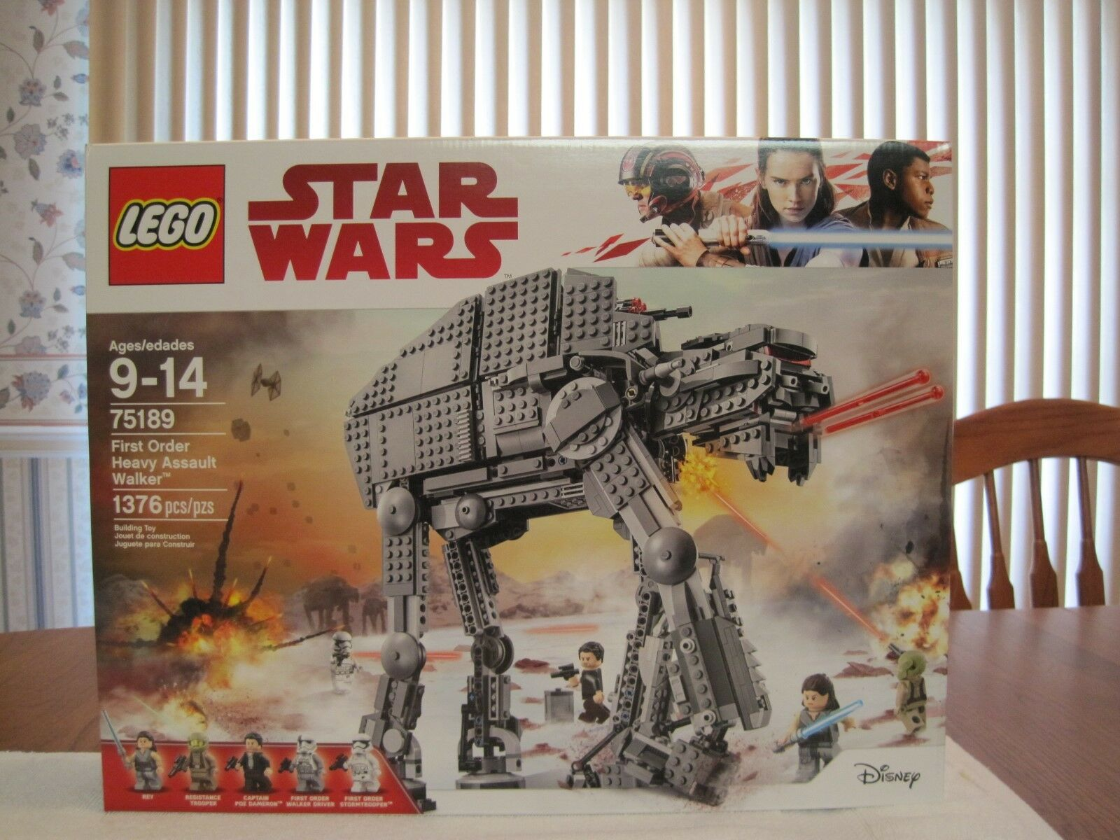 2017 LEGO  75189 STAR WARS FIRST ORDER HEAVY ASSAULT WALKER--NEW--FACTORY SEALED