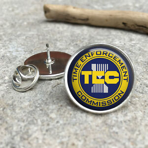 TEC TimeCop Time Enforcement Commission LAPEL PIN BADGE TIE PIN GIFT
