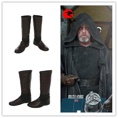 Star Wars 8 The Last Jedi Luke Skywalker Cosplay Boots Shoes Custom made