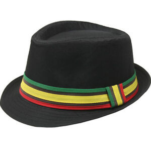 9ac8bb08824 RAINBOW Men Women Unisex Fedora Hat Trilby Cuban Style Upturn Short ...