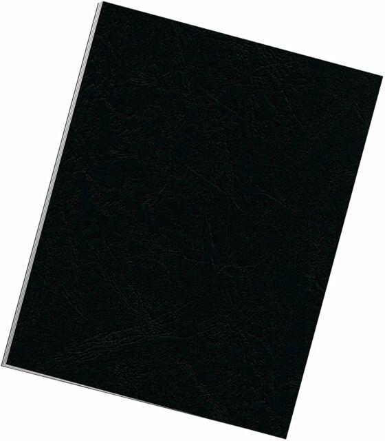 Fellowes Binding Grain Presentation Covers, Letter, Black, 25 Pack