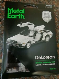 Fascinations Metal Earth DeLorean 3D Metal Model Kit NEW Back to the Future