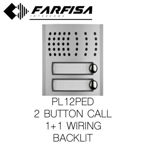FARFISA PL12PED 2 BUTTON Audio external door station Profilo modular series