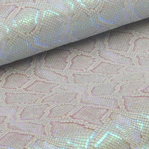 Rindsleder Snake Design 2,4 mm Dick A4 Format Echt Leder Reptil Leather 17