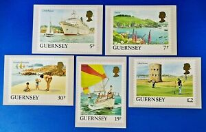 Set of 5 PHQ Stamp Postcards Guernsey Set No.8 1988 Definitive Issue OC7