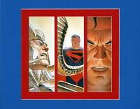 KINGDOM COME - SUPERMAN & MAGOG PRINT PROFESSIONALLY MATTED Alex Ross art