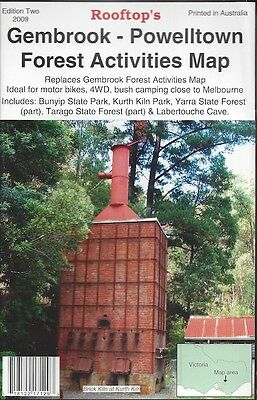 Rooftop Gembrook - Powelltown Forest Activities Map *FREE SHIPPING - NEW*