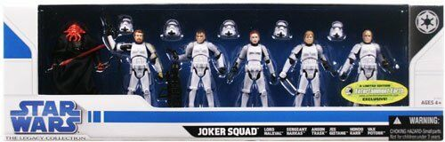 Star Wars Legacy: Exclusive Joker Squad Nuovo Sealed VHTF
