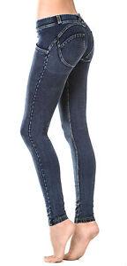 e8d4a16f829f Caricamento dell immagine in corso Pantalone-leggins-Freddy-donna -wrup-impunture-Denim-leggins-
