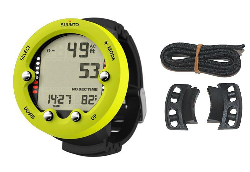 Suunto Zoop Novo  Dive Computer Watch & Vyper Novo Bungee Adaptor Kit