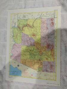 Map Of Arizona Railroads.Details About 1958 Railroad Map Of Arizona Railroad Map Of Arkansas On Reverse