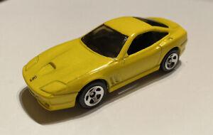 2002-Hotwheels-Ferrari-550-Maranello-Amarelo-5-Pack-Lancamento-Perfeito-muito-Raro