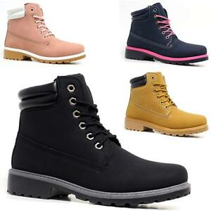 Ladies Fashion Hiking Boots Womens Ankle Desert Trail Combat Walking