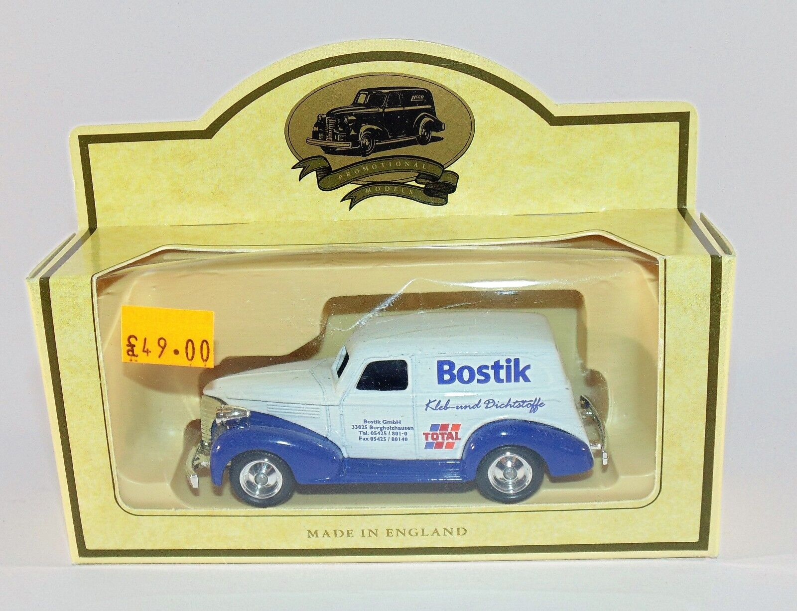 Lledo Promotional Models RARE Bostik GmbH GmbH GmbH Kleb-und Dichtstoffe Total Van 823106