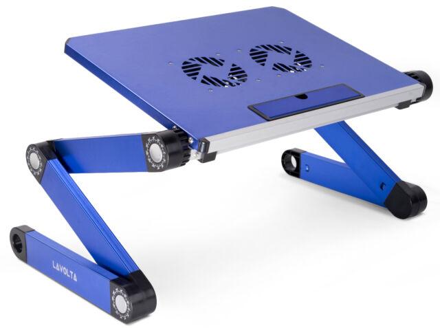 Lavolta Folding Laptop Table Desk Tray Stand Cooling Pad Cooler Fan Adjule