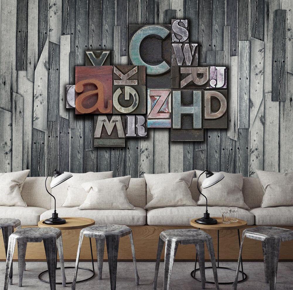 3D Hölzernes Alphabet 66 Tapete Tapeten Mauer Foto Familie Tapete Wandgemälde DE