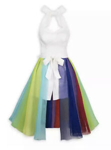 NWT DISNEY PARKS DRESS SHOP INSIDE OUT RAINBOW UNICORN ROMPER SKIRT ADULT LARGE
