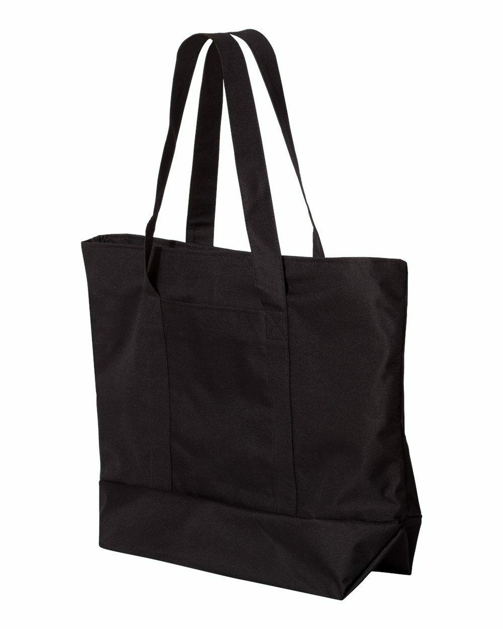 UltraClub Zippered Polyester Tote Bag 7006 White// Red