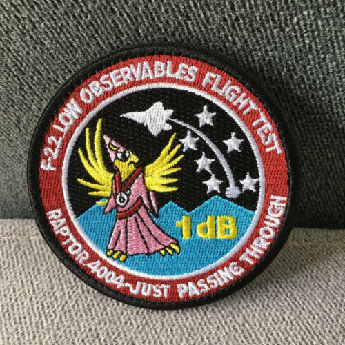 US ARMY AIR FORCE Black Ops Area 51 Embroidered Hook Loop Patch Fastener Badge